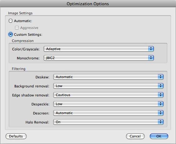 Optimization Options
