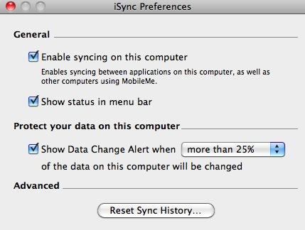 iSync Tercihleri