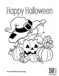 Dialect Zone International - Halloween Coloring Contest - Image 1