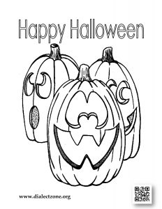 Dialect Zone International - Halloween Coloring Contest - Image 2