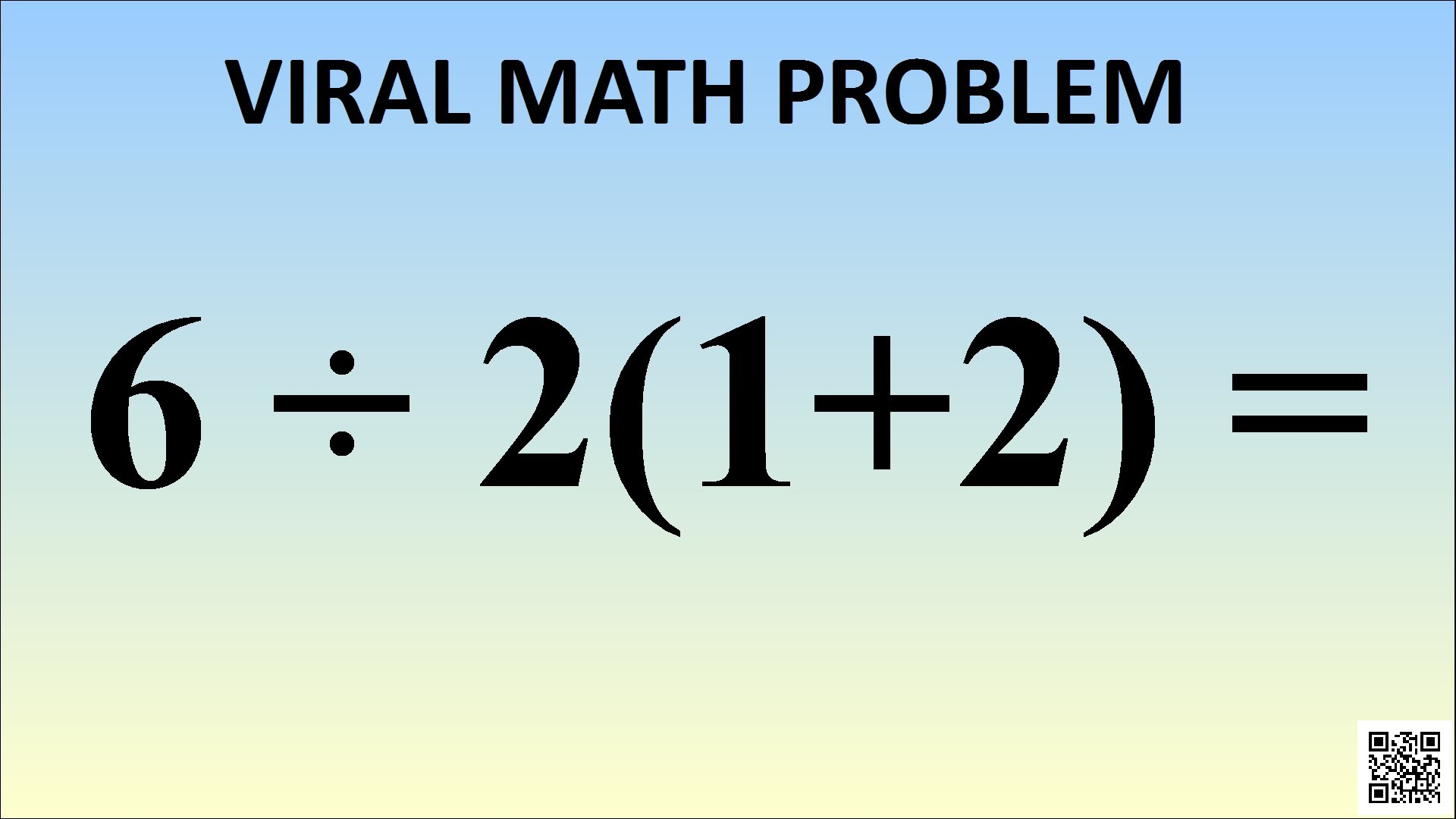 This Math Problem Will Make You Lose Your Mind