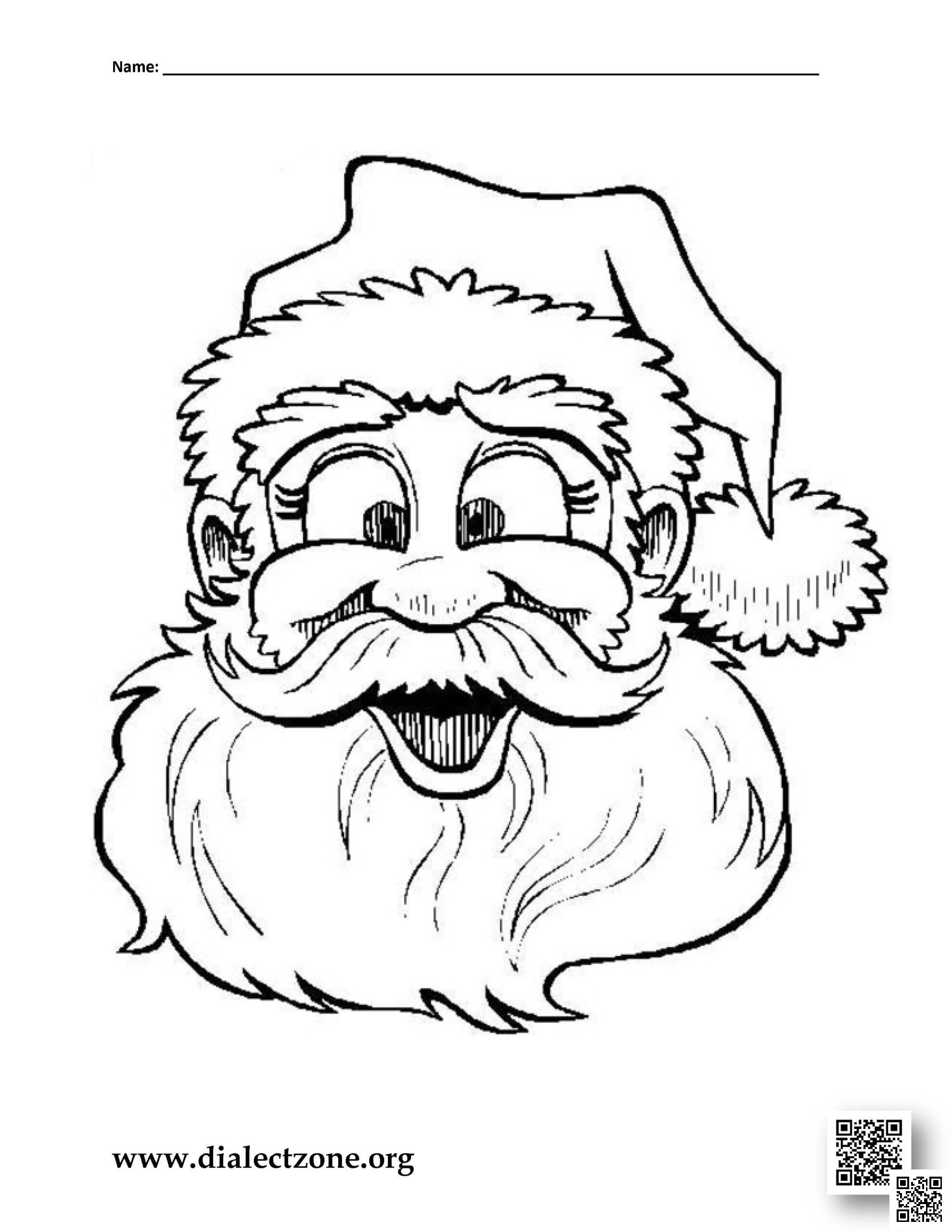 Christmas Santa Claus – Christmas Coloring Page