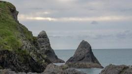 Felsen vor Ceibwr Bay