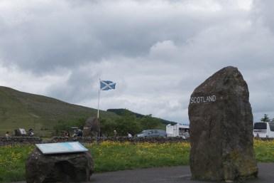 Die Englisch-Schottische grüne Grenze