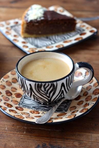 Kaffeepause mit Geschirr aus-Namibia