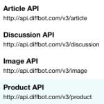 Diffbot APIs