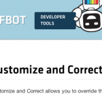 Diffbot's Customize and Correct