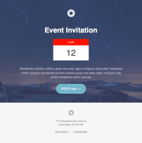 Pook Event - Responsive HTML newsletter template