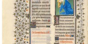 Belles Heures of Jean de France, Duc de Berry, f. 179v, Saint Lucy
