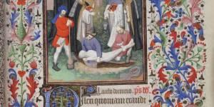Beinecke MS 400, De Levis Hours, f. 130r, Office of Dead
