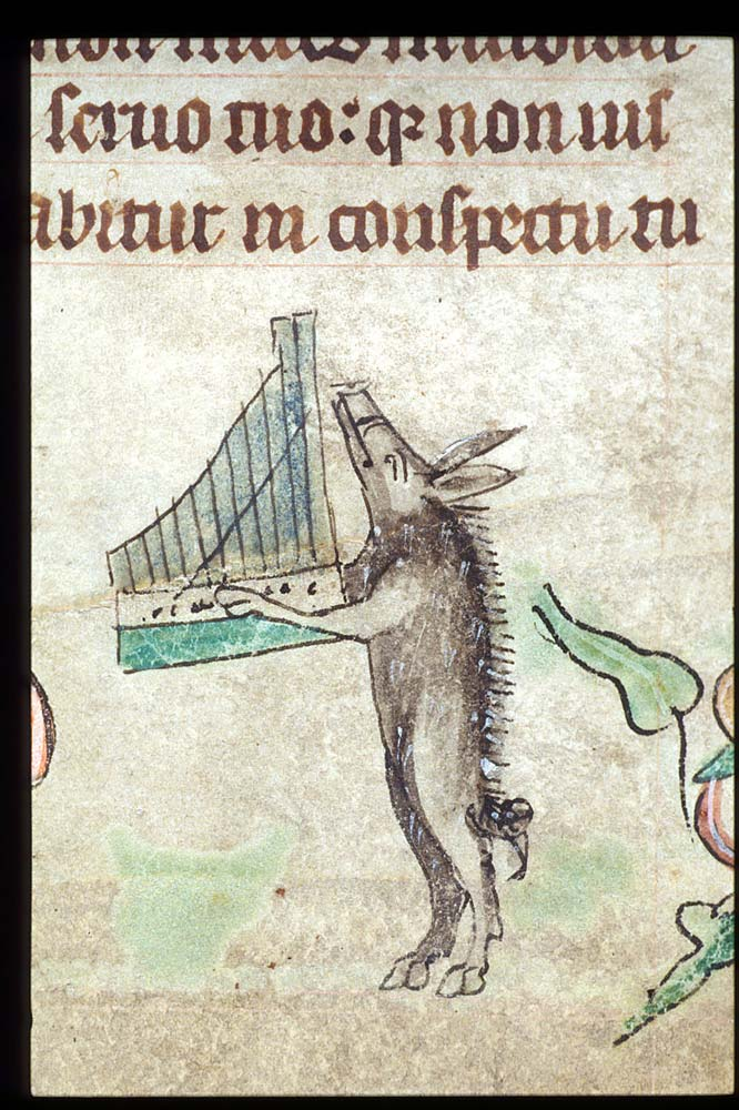 Harley 6563, f. 41, Boar and organetto