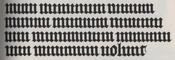 Gothic Script example