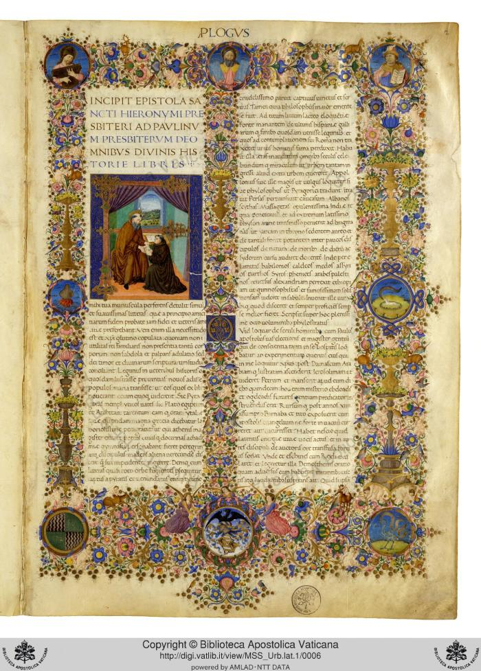 Urb.lat.1 The Urbinate Bible f 2r