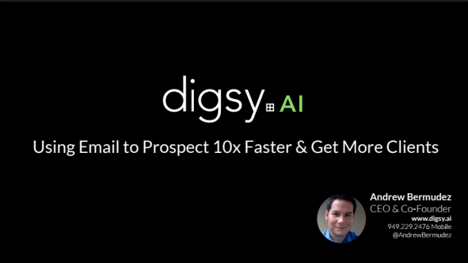 Using Email to Prospect 10x Faster & Get More Clients