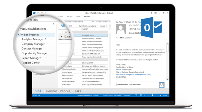 Outlook CRM - Prophet CRM