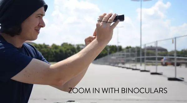 Gunakan teropong sebagai lensa zoom