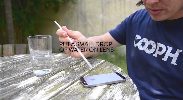 Membuat lensa macro dengan setetes air