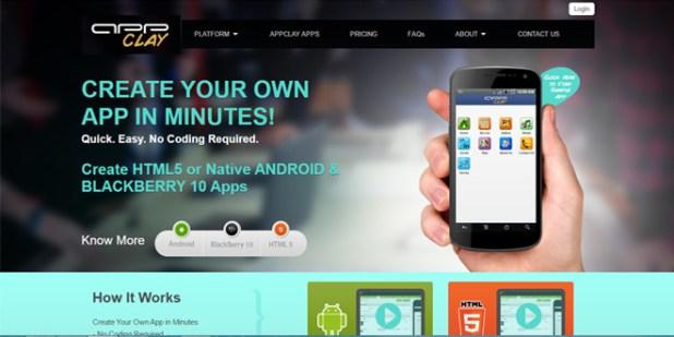 Appclay shephertz website untuk membuat aplikasi android gratis