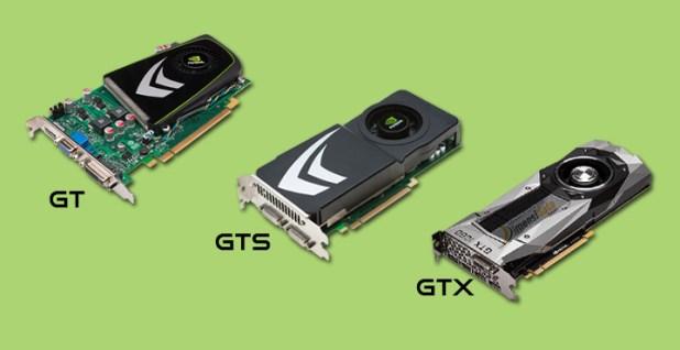 Macam Jenis Seri Tipe VGA Card Nvidia GT, GTS dan GTX
