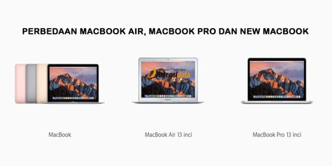 Perbedaan Spesifikasi MacBook Air, MacBook Pro dan New MacBook