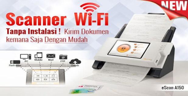 Spesifikasi dan Harga Scanner Wireless ADF eScan A150
