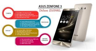 Spesifikasi dan Harga ZenFone 3 Deluxe ZS570KL Terbaru 2017