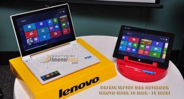 Daftar Harga Notebook Lenovo 10 Inch – 12 Inch Terbaru 2018