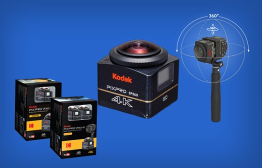 Kamera 360 derajat Kodak PIXPRO SP360 4K
