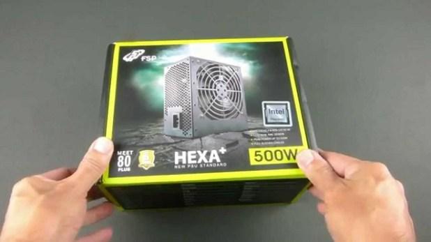 PC Gaming Power Supply 80+ Terbaik FSP Hexa+ 500w