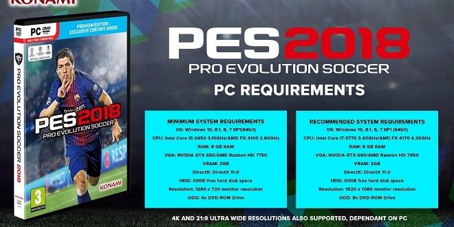 Spesifikasi Minimum PES 2018 untuk PC dan Laptop