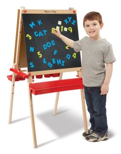 Toys to Encourage Independent Standing; magnet easel