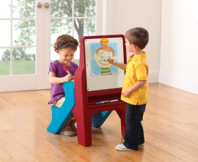 Toys to Encourage Independent Standing; kids art easel