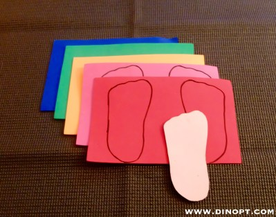 yoga for kids foot cut outs