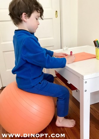 seated ball chair
