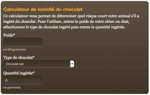 calculateur intoxication au chocolat