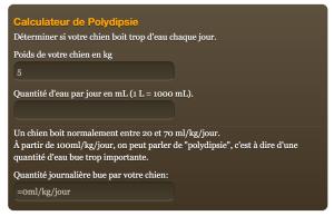 Calculateur de Polydipsie