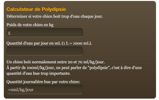 Calculateur de Polydipsie