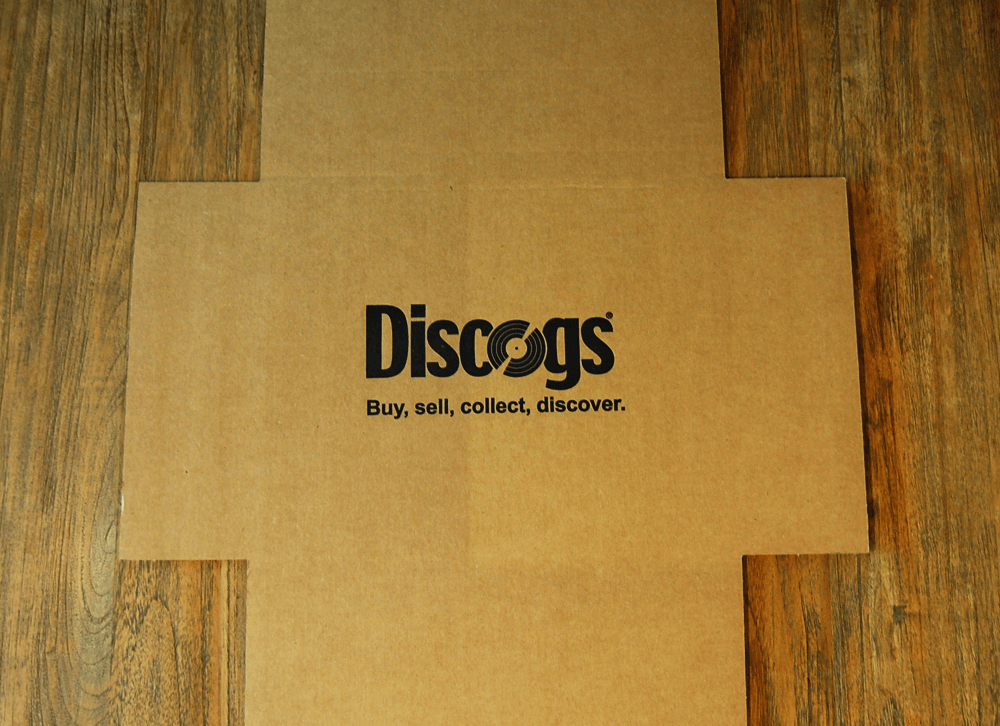 Folding type cardboard mailers are perfect for packaging records for shipping