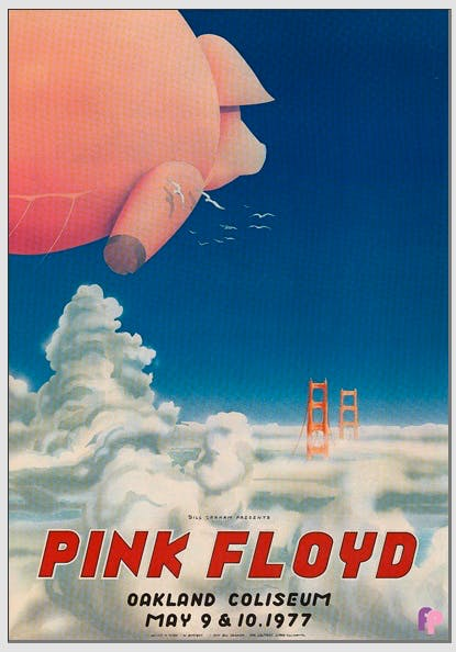 Iconic posters: Pink Floyd Oakland 1977