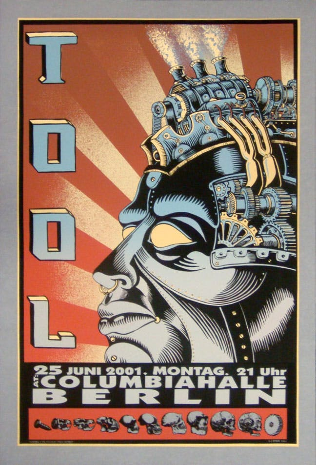 Iconic gig posters: Tool Berlin 2001 gig poster by Emek
