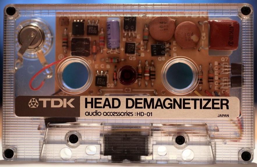 degmanetizing a cassette tape