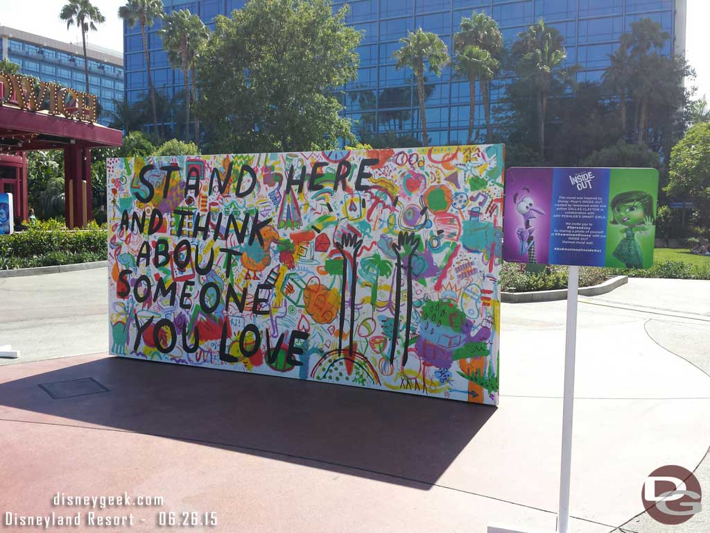Insideout mural by dallas clayton in downtown disney for Disneyland mural