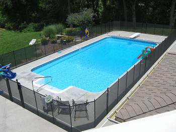 Image result for 4 sided isolation pool fence