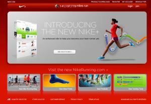 Nouvelle version de NikeRunning.com - Page d'accueil
