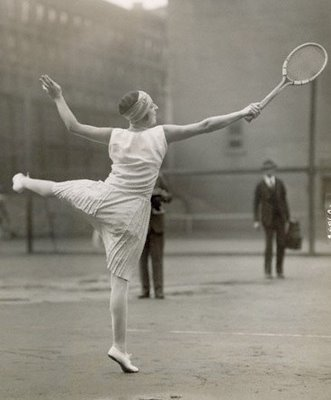 Suzanne Lenglen Playing Tennis