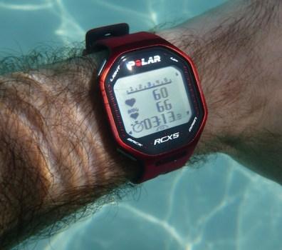 Polar RCX5 - Sous l'eau