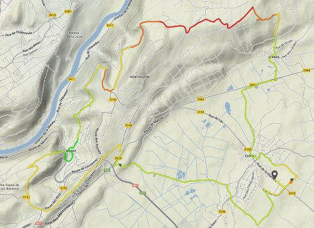 340ème sortie - Trace GPS
