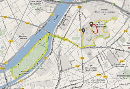 341ème sortie - Trace GPS