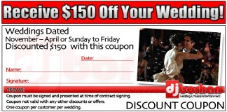 DJ Borhan wedding services coupon