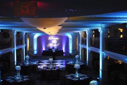 toronto wedding decor up lights